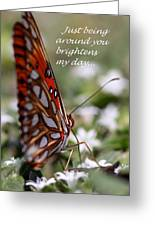 Butterfly Friendship Card Greeting Card