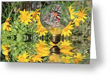 Butterfly In A Bulb II - Landscape Greeting Card