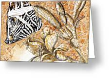Butterfly Mosaic 02 Elena Yakubovich Greeting Card