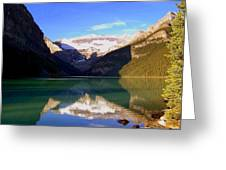 Butterfly Phenomenon At Lake Louise Greeting Card
