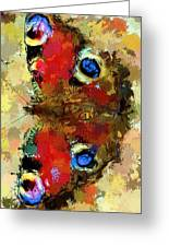 Butterfly Greeting Card by Yury Malkov