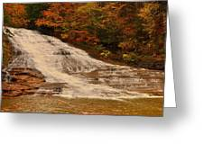 Buttermilk Falls Sate Park New York  Greeting Card by Puzzles Shum