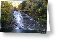 Buttermilk State Park Falls Greeting Card
