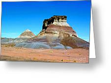 Buttes In The Painted Desert In Arizona Greeting Card