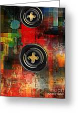 Button To The Top Greeting Card by Fania Simon