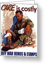Buy War Bonds And Stamps Greeting Card