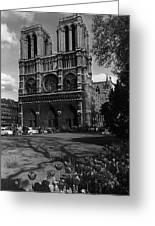 Vintage France Paris Notre Dame Cathedral 1970 Greeting Card