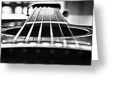 Bw Guitar Greeting Card