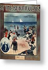 By The Beautiful Sea, 1914 Greeting Card