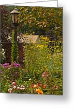 By The Light Of The Garden Greeting Card