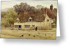 By The Old Cottage Greeting Card