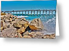 By The Pier Greeting Card