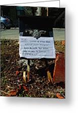 Svp Laissez Le Poste Pour Emily Dans La Boite Aux Lettres Elle Va Venir Le Chercher Merci Greeting Card
