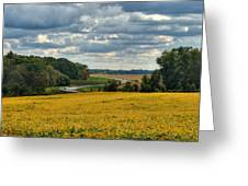 Bypass The Country Fields Greeting Card