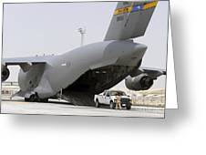 C-17s Deliver, Pick-up Cargo Greeting Card