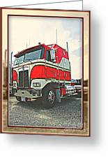 Cab-over Kenworth Greeting Card
