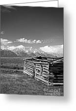 Cabin And The Grand Tetons Greeting Card