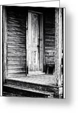 Cabin Door Greeting Card by John Rizzuto