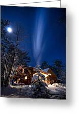 Cabin In Minnesota Greeting Card by Garth  Mc Intosh
