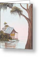 Cabin In The Swamp Greeting Card
