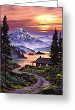 Cabin On The Lake Greeting Card
