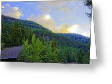 Cabin On The Mountain - Vail Greeting Card
