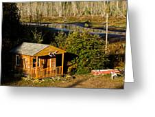 Cabin On The River Greeting Card
