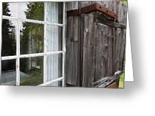 Cabin Window Greeting Card