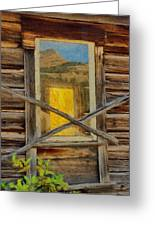 Cabin Windows Greeting Card