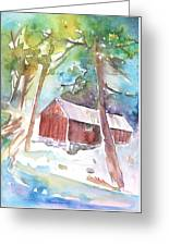 Cabine In The Troodos Mountains Greeting Card