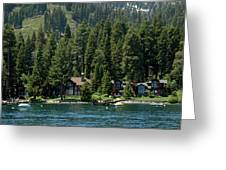 Cabins On The Lake Tahoe Greeting Card