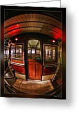 Cable Car Door Greeting Card