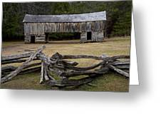 Cable Mill Barn In Cade's Cove No.122 Greeting Card
