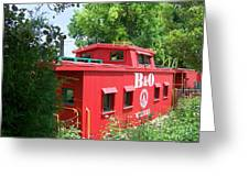 Caboose In The Trees Greeting Card