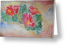 Cactus Art Greeting Card by M C Sturman