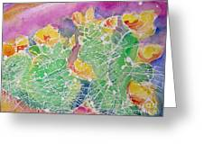 Cactus Color Greeting Card by M C Sturman