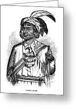Caddo Chief, 1879 Greeting Card