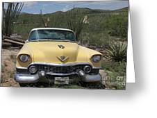Caddy In The Desert Greeting Card