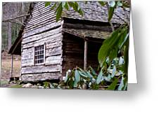 Cades Cove Cabin Greeting Card by Jim Finch