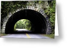 Cades Cove Tunnel Greeting Card