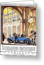 Cadillac Ad, 1927 Greeting Card