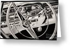 Cadillac Control Panel Greeting Card