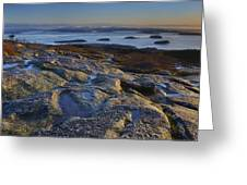 Cadillac Mountain And Frenchman's Bay Greeting Card