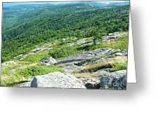 Cadillac Mountain Rocky View Greeting Card