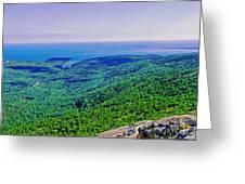 Cadillac Mt  Mt Desert Island Me Ocean View Greeting Card