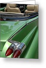 Cadillac Tail Fins Greeting Card