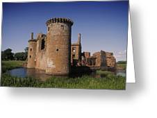 Caerlaverock Castle, Dumfries, Scotland Greeting Card