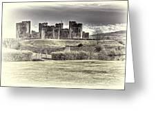 Caerphilly Castle Cream Greeting Card
