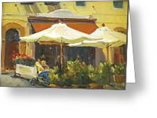 Cafe In Montecito Greeting Card