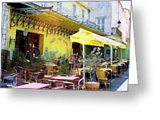 Cafe La Nuit Greeting Card